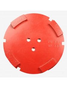 Corona sat dte 150 mm 4 SEG PB-40 rojo