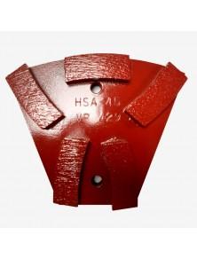 Segmento diamantado metálico HSA-45 Rojo